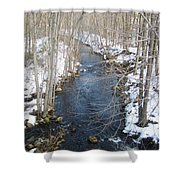White Mill Park - Winter 2 Shower Curtain