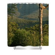 White Mountain Evening Shower Curtain