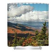 White Mountain Foliage Shower Curtain