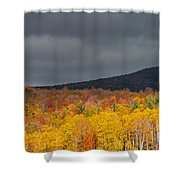 White Mountain Hillside Shower Curtain
