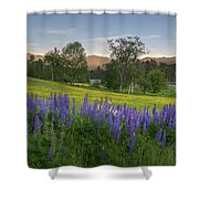 White Mountain Sunset Shower Curtain