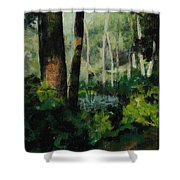 White Mountain Woods Shower Curtain