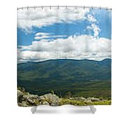 White Mountains Pano Shower Curtain
