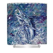 White One Shower Curtain