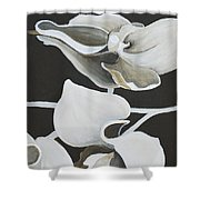 White Orchid Middle Section Shower Curtain
