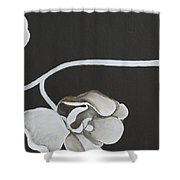 White Orchid Third Section Shower Curtain
