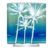 White Palms Shower Curtain