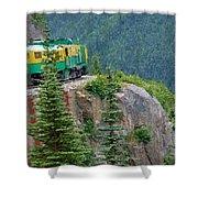 White Pass Train Alaska - Canada Shower Curtain