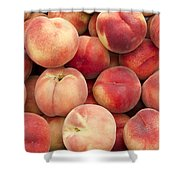 White Peaches Shower Curtain