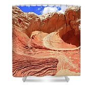 White Pocket # 42 Shower Curtain