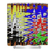 White Prickly Poppy Flower Color Abstract Shower Curtain