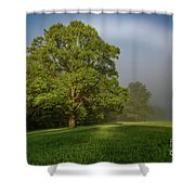 White Rainbow Shower Curtain