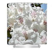 White Rhododendrons Flowers Art Prints Baslee Troutman Shower Curtain