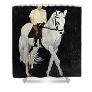 White Ride Shower Curtain
