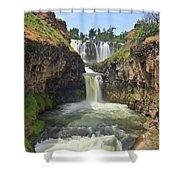 White River Falls B Shower Curtain