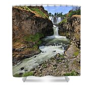 White River Falls C Shower Curtain