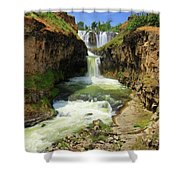 White River Falls D Shower Curtain