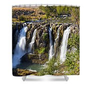 White River Falls In Tygh Valley Shower Curtain