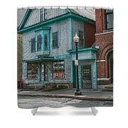 White River Junction Street Shower Curtain