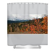 White River National Forest Autumn Panorama Shower Curtain