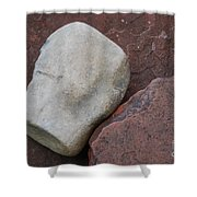 White Rock On Red Rock Number 1 Shower Curtain