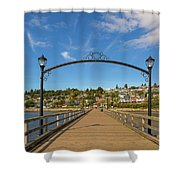 White Rock Pier In Bc Canada Shower Curtain