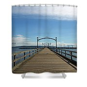 White Rock Pier Moorage In Bc Canada Shower Curtain