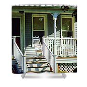 White Rocking Chairs Shower Curtain