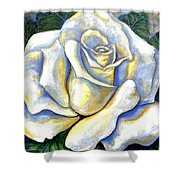 White Rose Two Shower Curtain