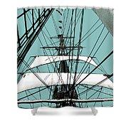 White Sails At Dawn Shower Curtain