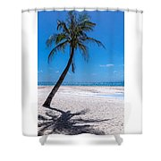 White Sand Beaches And Tropical Blue Skies Shower Curtain