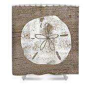 White Sand Dollar- Art By Linda Woods Shower Curtain
