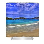 White Sands Beach Shower Curtain