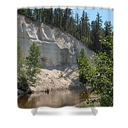 White Sands Cliff Shower Curtain