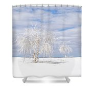 White Sands Duo Shower Curtain