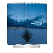 White Sands Moonrise Shower Curtain