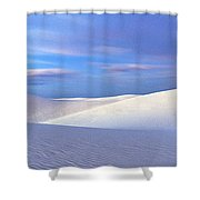 White Sands National Monument, Sunset Shower Curtain