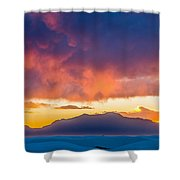 White Sands Panorama Shower Curtain
