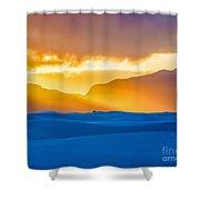 White Sands Sunset 2 Shower Curtain