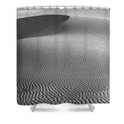 White Sands Sunset Dune Shower Curtain