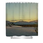 White Sands Sunset Shower Curtain