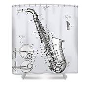 White Sax Shower Curtain