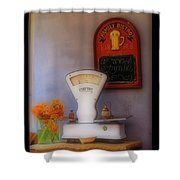 White Scale Shower Curtain