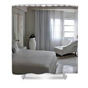 White Serenity  Shower Curtain