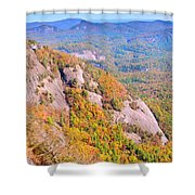 White Side Mountain Fool's Rock In Autumn Shower Curtain