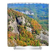 White Side Mountain Fool's Rock In Autumn Vertical Shower Curtain