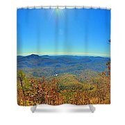 White Side Mountain Nantahala National Forest In Autumn Shower Curtain