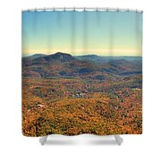 White Side Mountain Panorama Shower Curtain