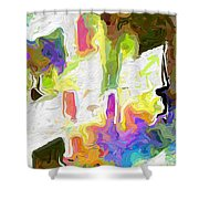 White Space II Shower Curtain
