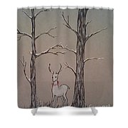 White Stag Shower Curtain